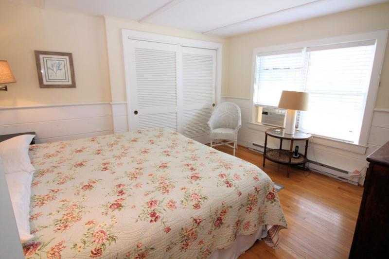 First floor bedroom with king bed