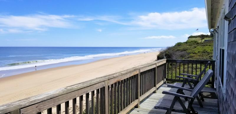 Panoramic ocean views from the front deck
