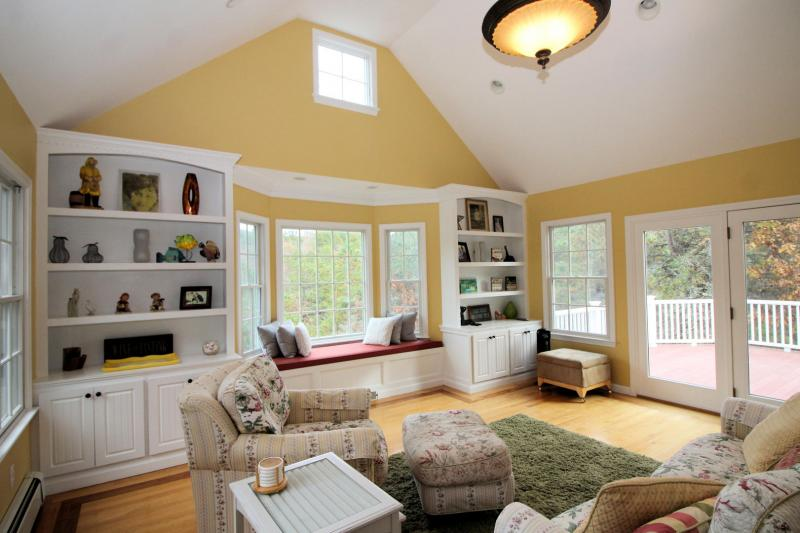 Wonderful great room with French doors to deck