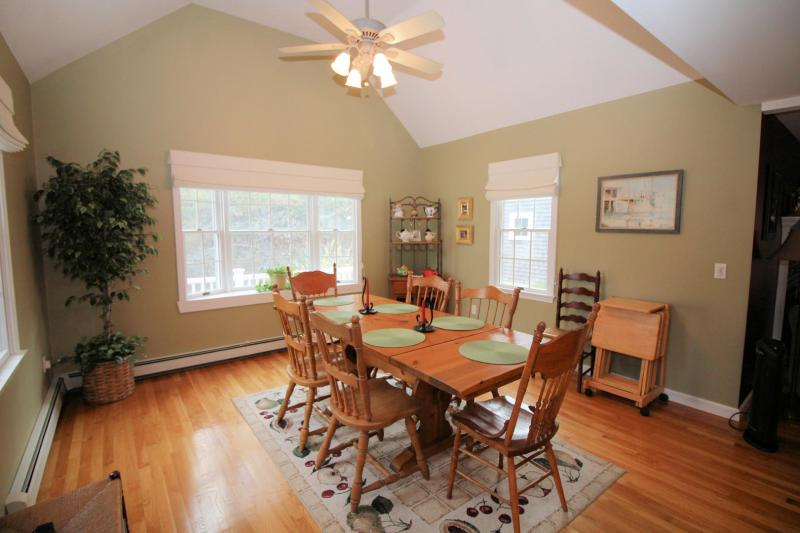 Dining room opens to kitchen and living room