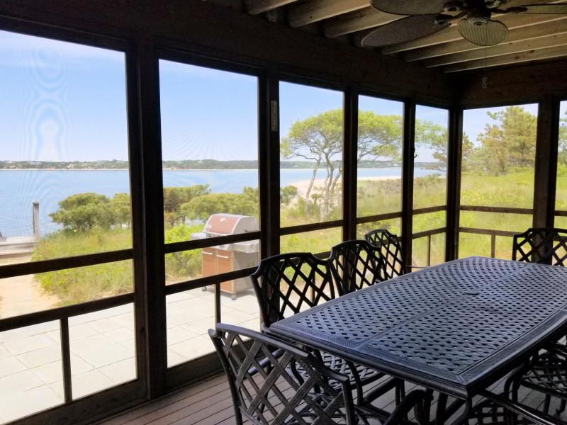 Enjoy the screened in porch with water views