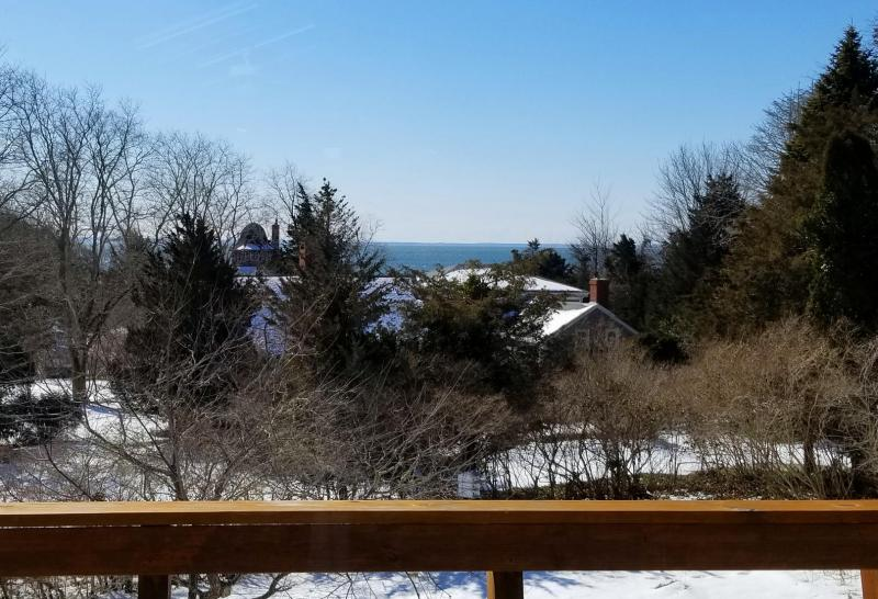 Views of Wellfleet Harbor from the main deck off the living area