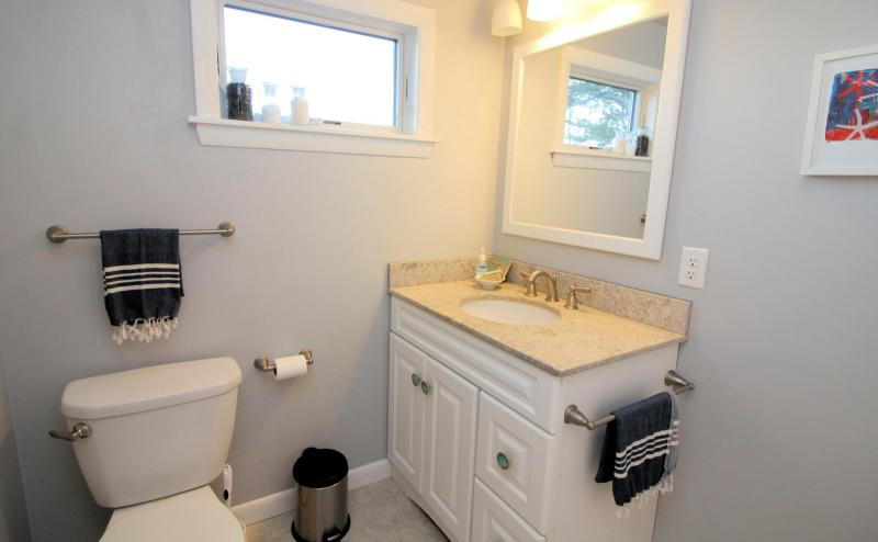 Second floor bathroom with shower