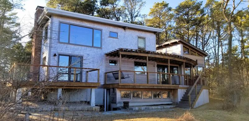 Beautiful home with two decks overlooking Fox Island Marsh