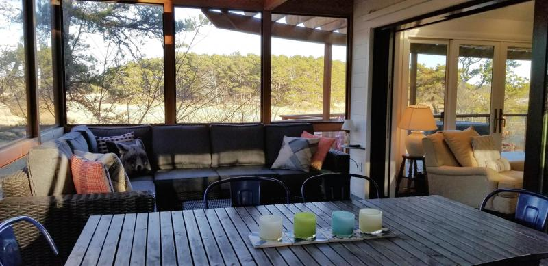 You may not want to leave the lovely screen porch