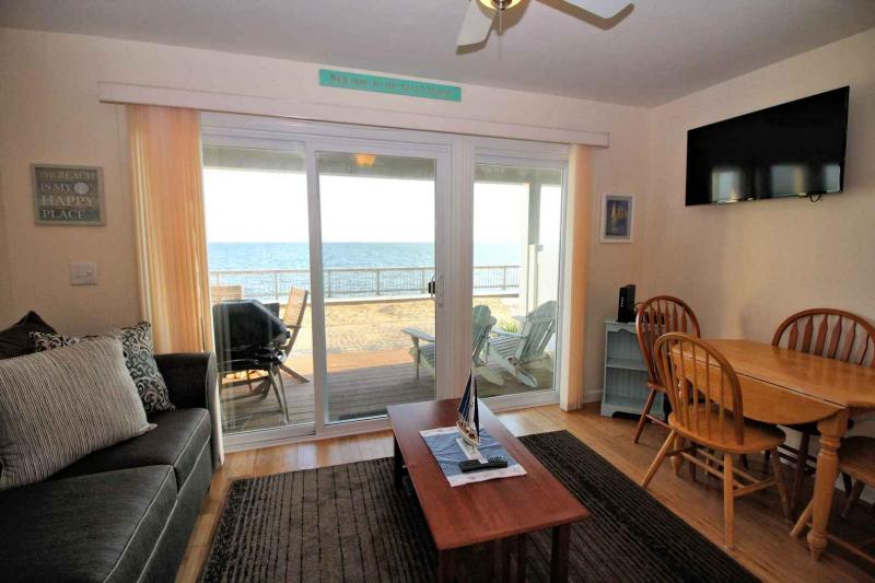 Living area has view of bay
